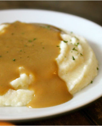 Food-Celebrations - Buttermilk Mashed Potatoes and Gravy - Walmart.com